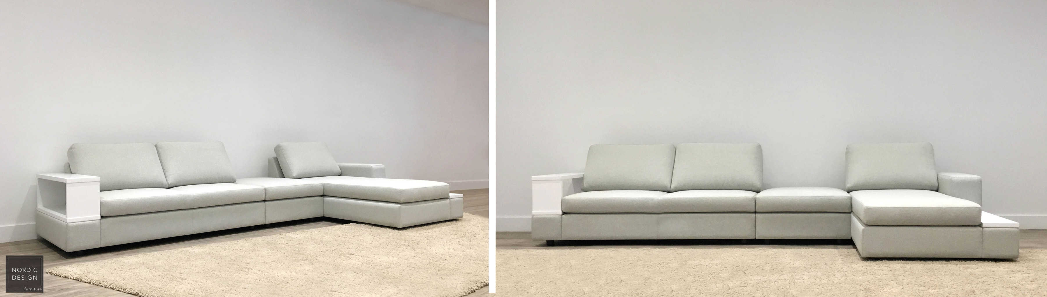 Wallace 4 Seater Mod Chaise Mod 6547 Wuest White 4 L Nordic