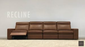 leather modular lounge