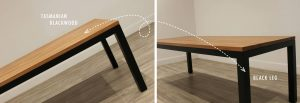 black leg dining table