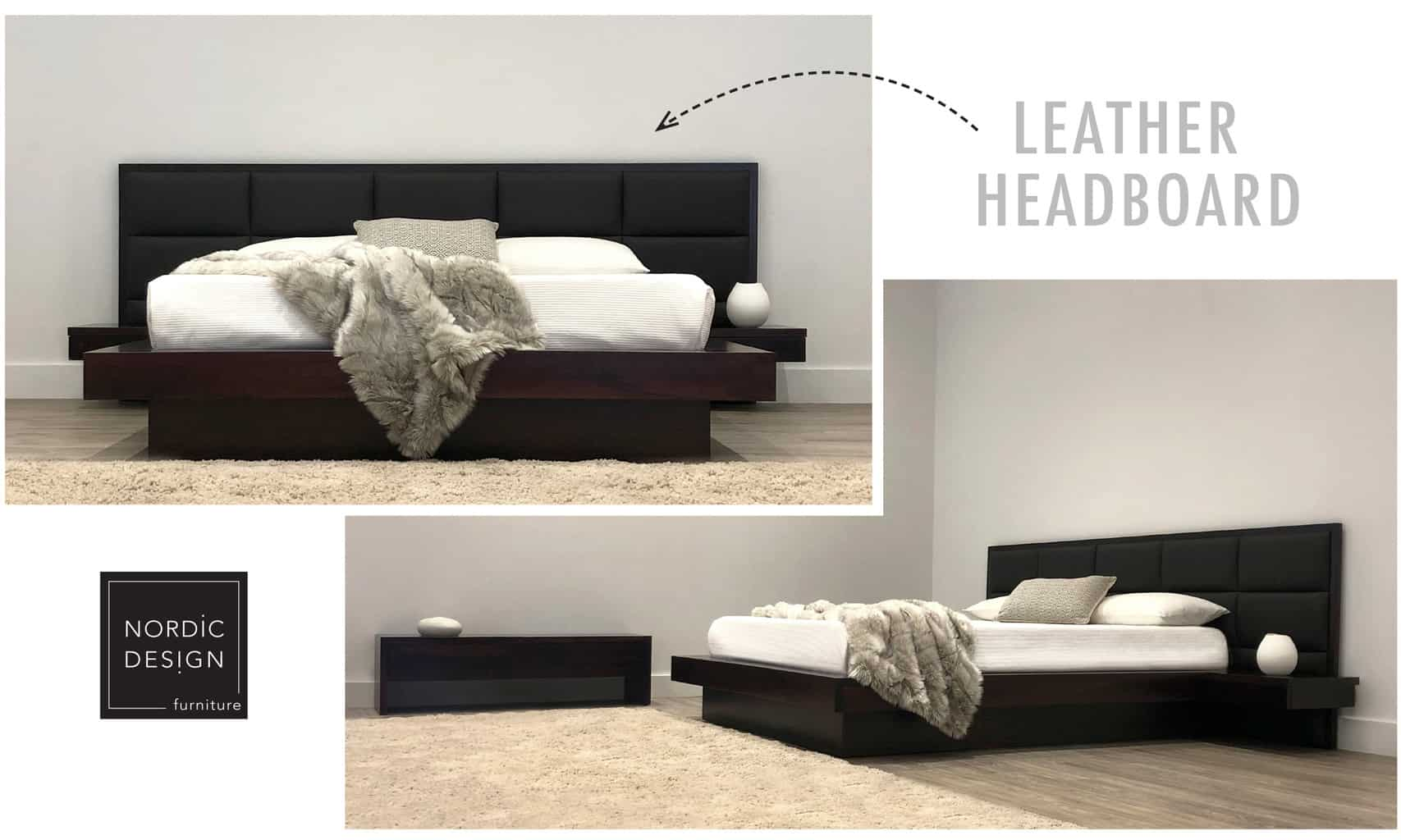 leather bed headboard