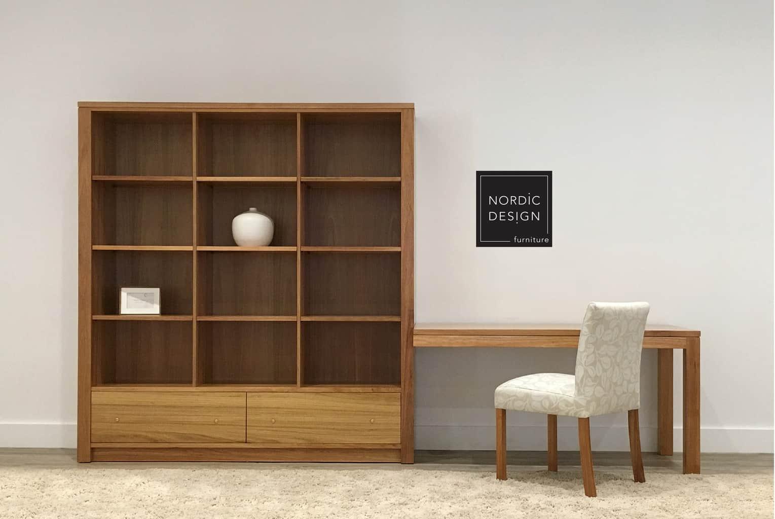 custom desk and storage