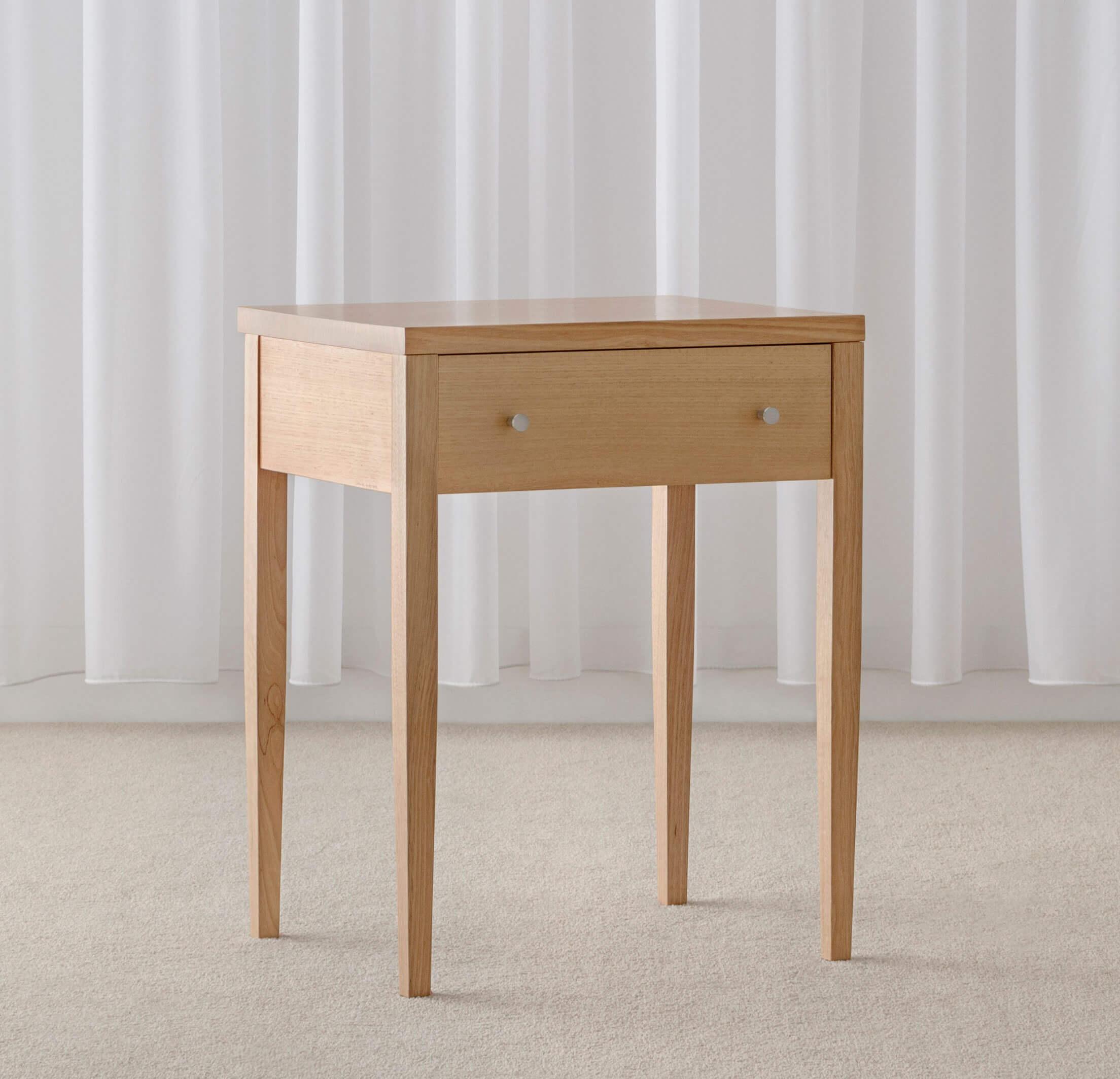 timber bedside table modern design made in Adelaide