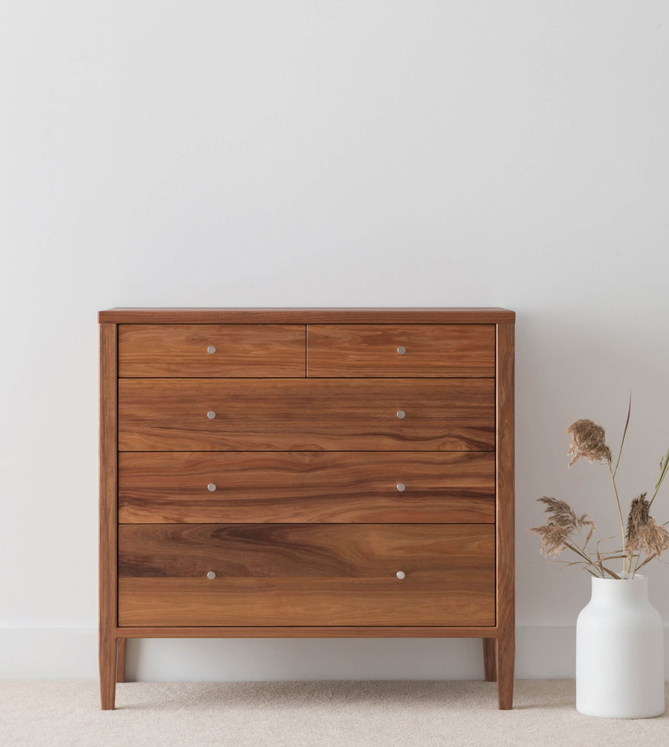 custom tallboy with 5 drawers made in Blackwood timber
