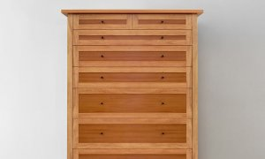two tone timber tallboy cabinet locally made