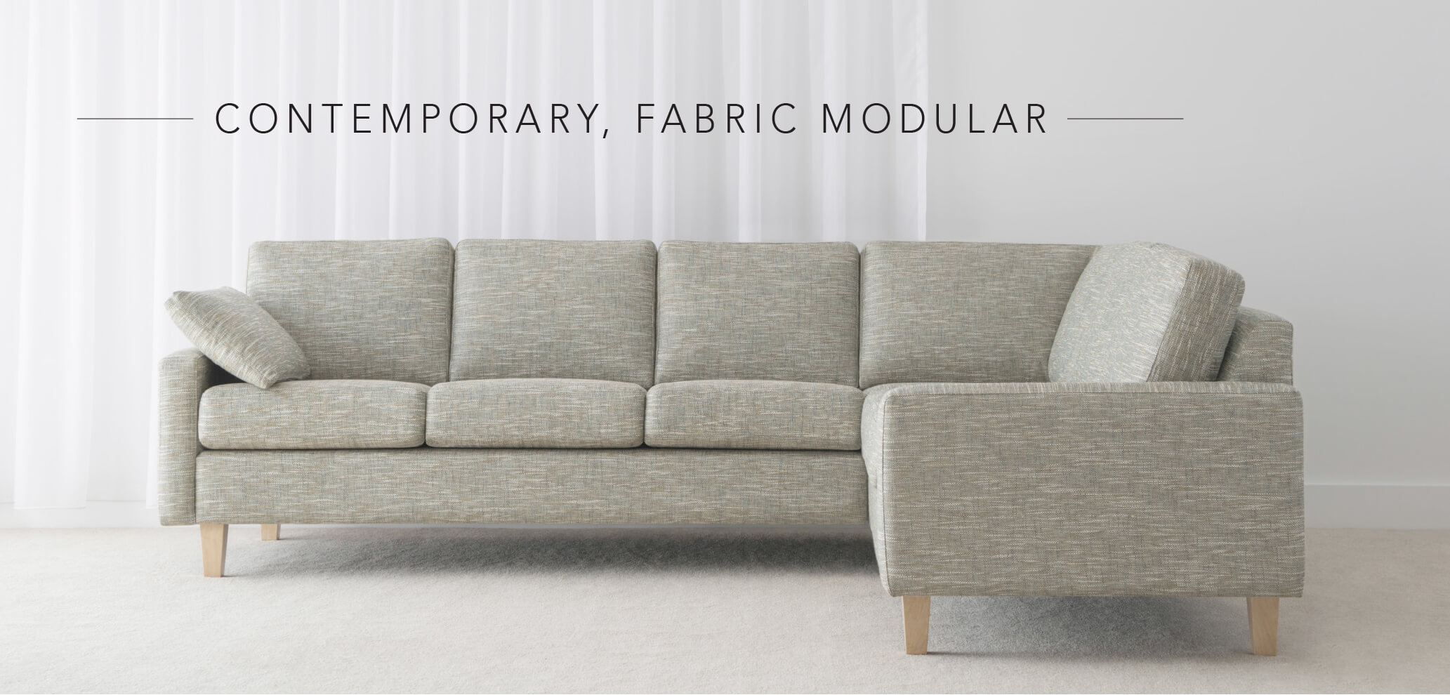 contemporary fabric modular lounge in adelaide