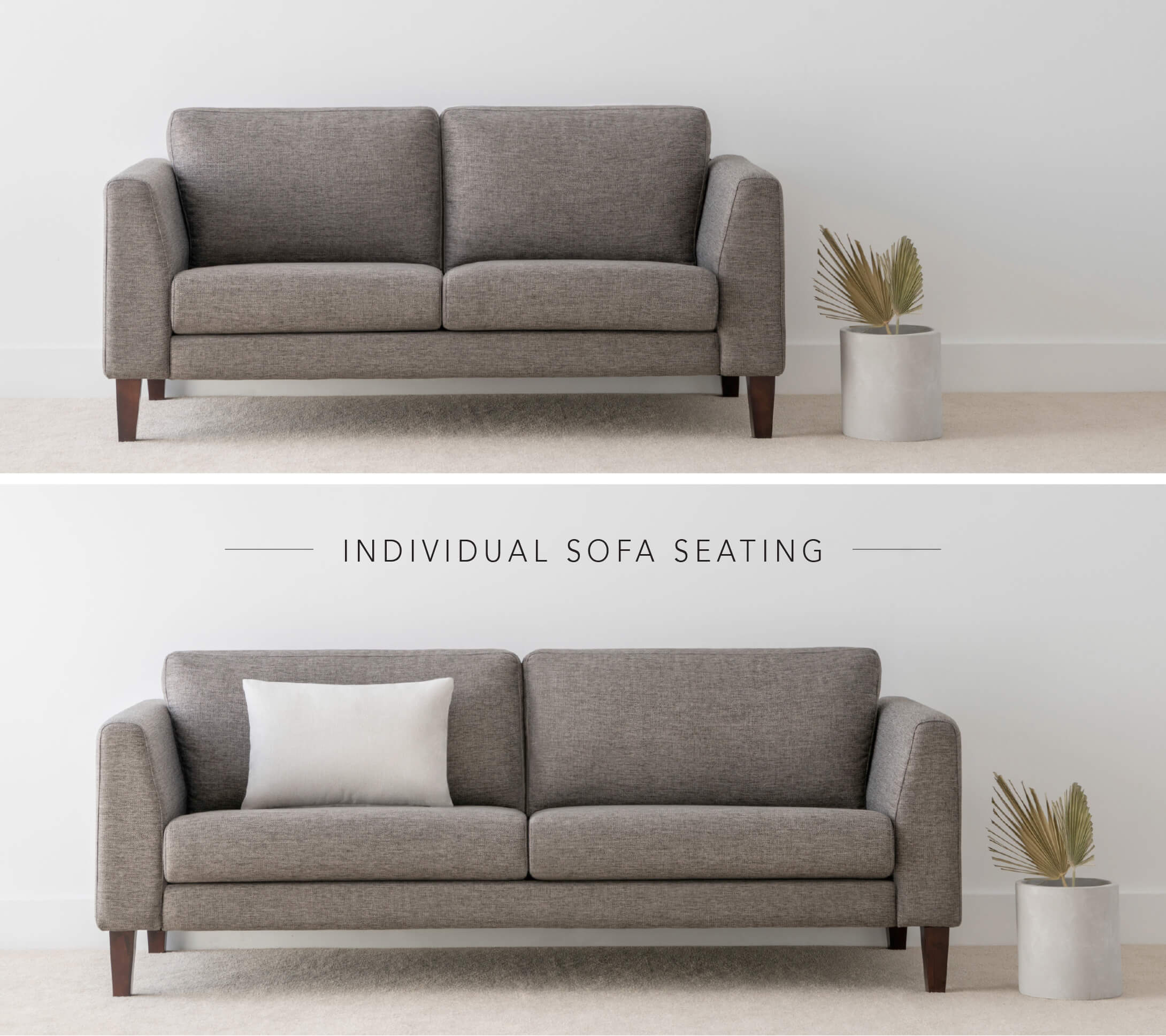 individual sofa lounge in fabric made locally