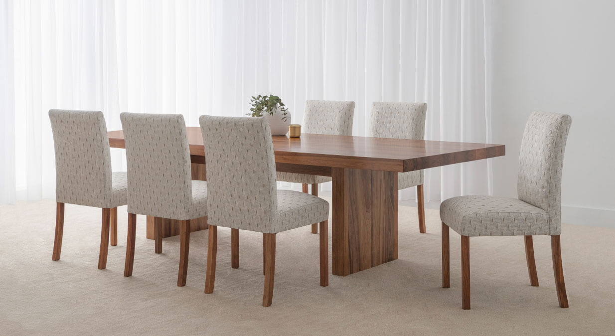 solid timber australian made dining setting
