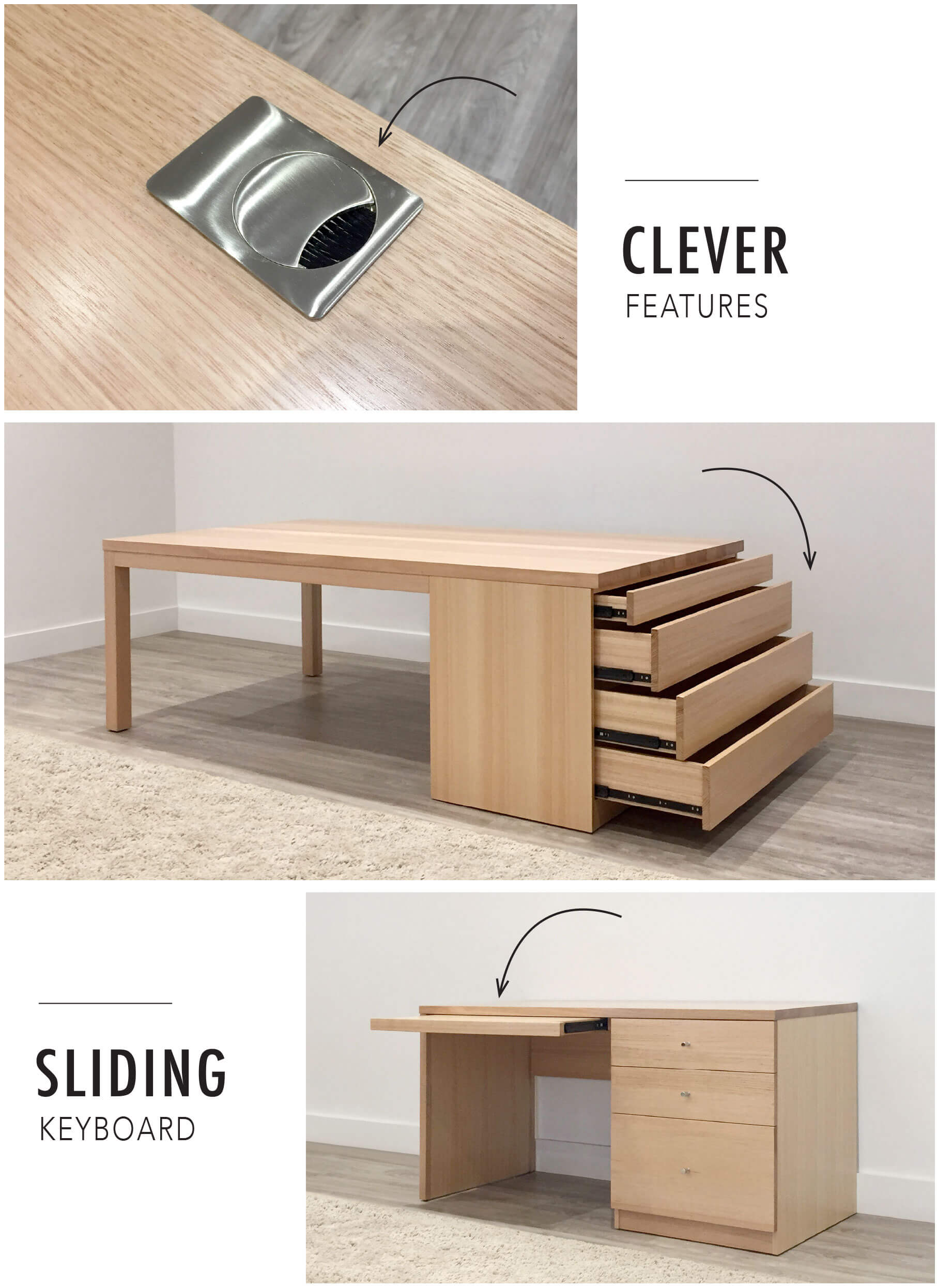 custom office desk features for your home office locally designed and crafted