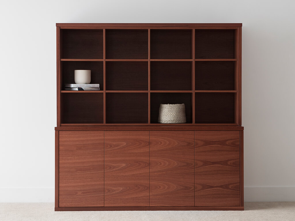 jarrah timber storage unit made in Adelaide