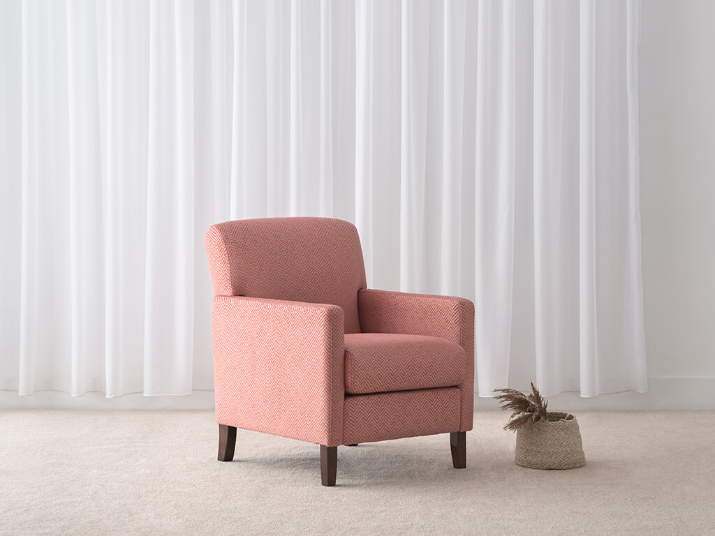 fabric armchair made in Adelaide