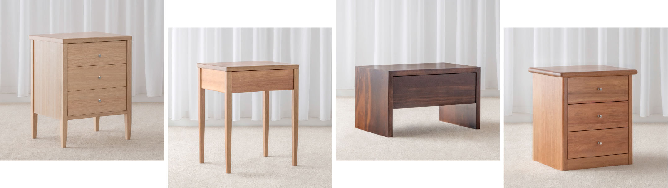 wooden bedside tables made in Adelaide