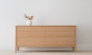 chest of drawers made in Adelaide from mountain ash timber with 4 legs and 6 drawers