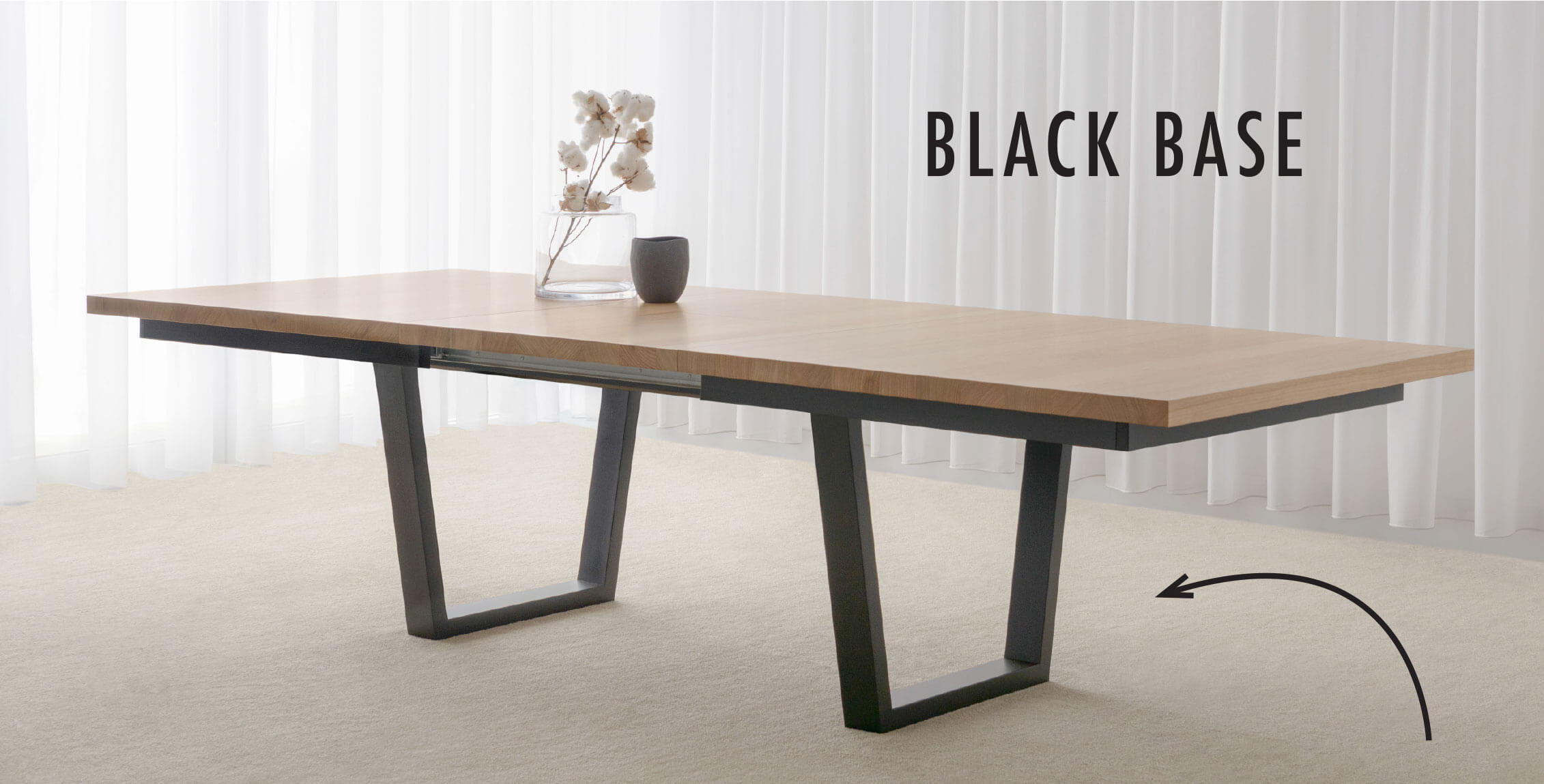 modern extension dining table made in Adelaide