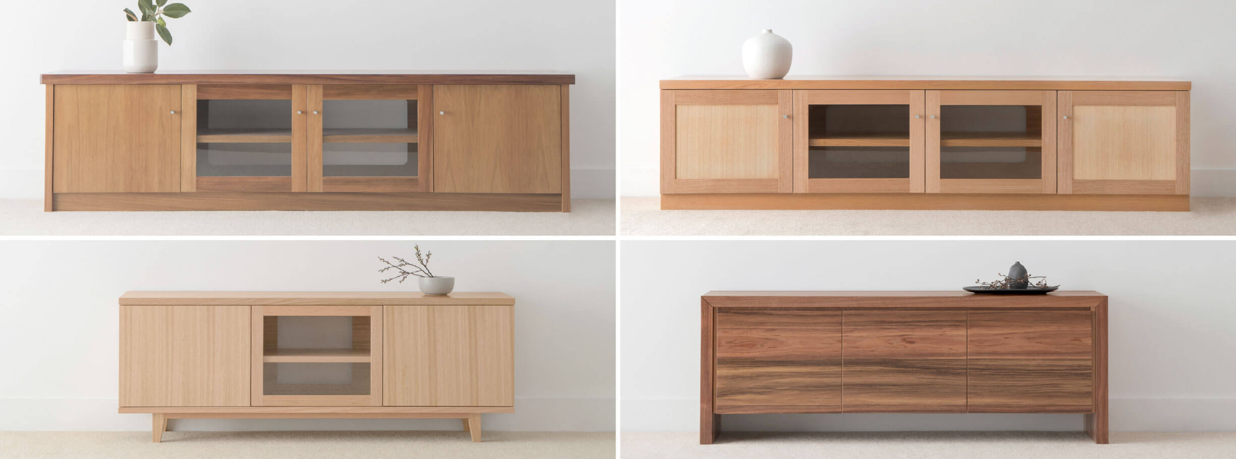 locally crafted timber entertainment units with custom storage options