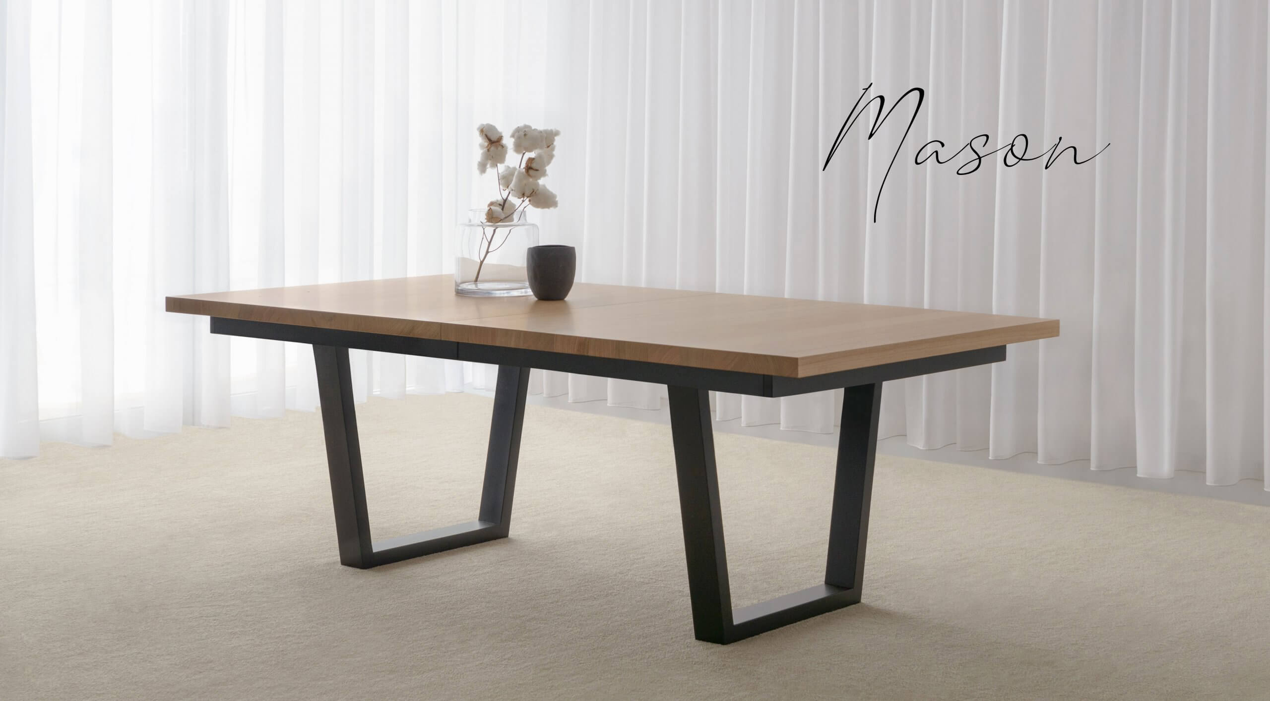 Modern Extendable Dining Table closed
