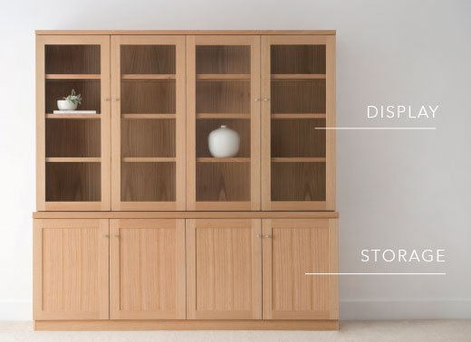 Display and Storage Wall Cabinet