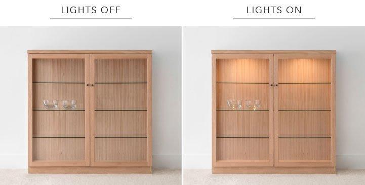 Internal Lighting for Display Cbinets