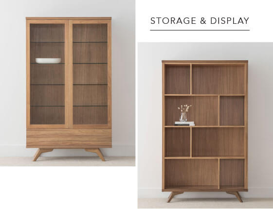 Designer Display and Storage Wall Cabinets