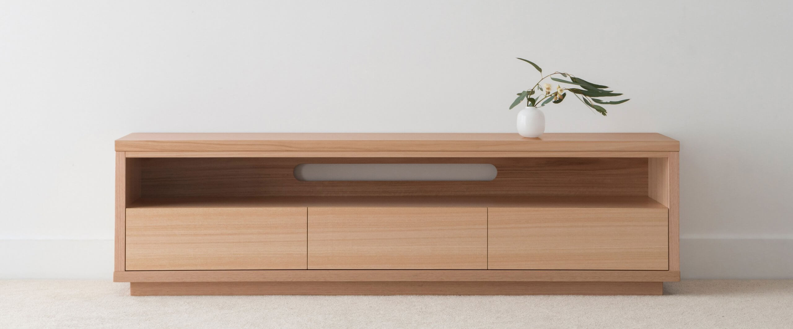 custom tv entertainment unit made from solid timber