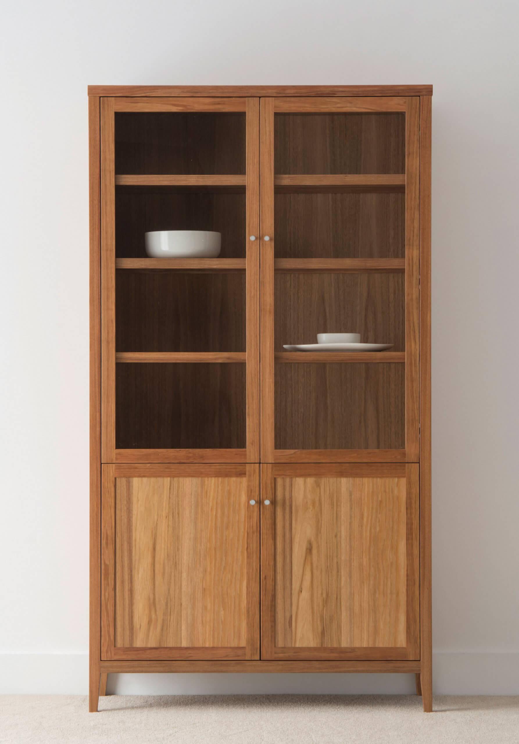 blackwood timber display cabinet with modern design
