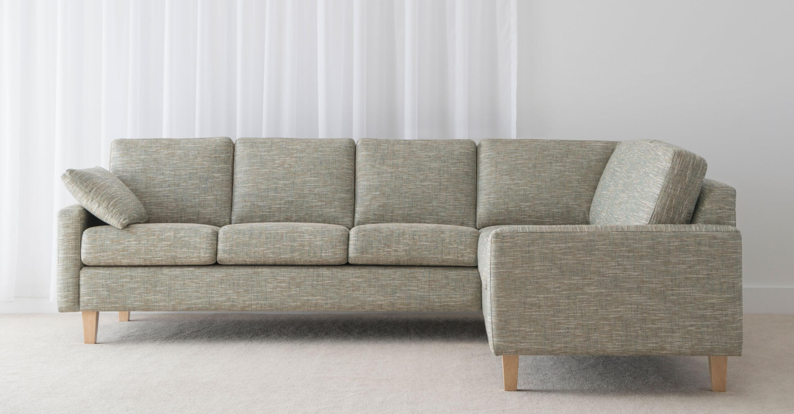 fabric modular lounge with arm rests