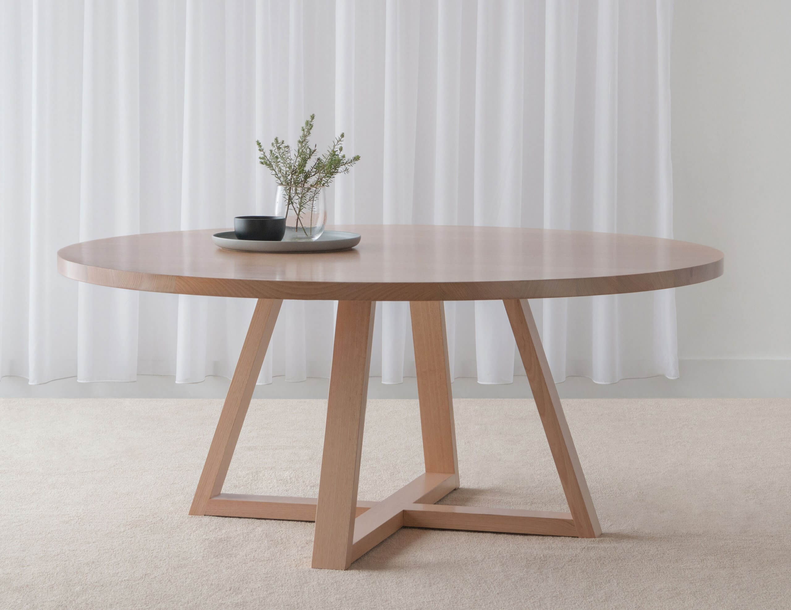 round dining table made in Adelaide