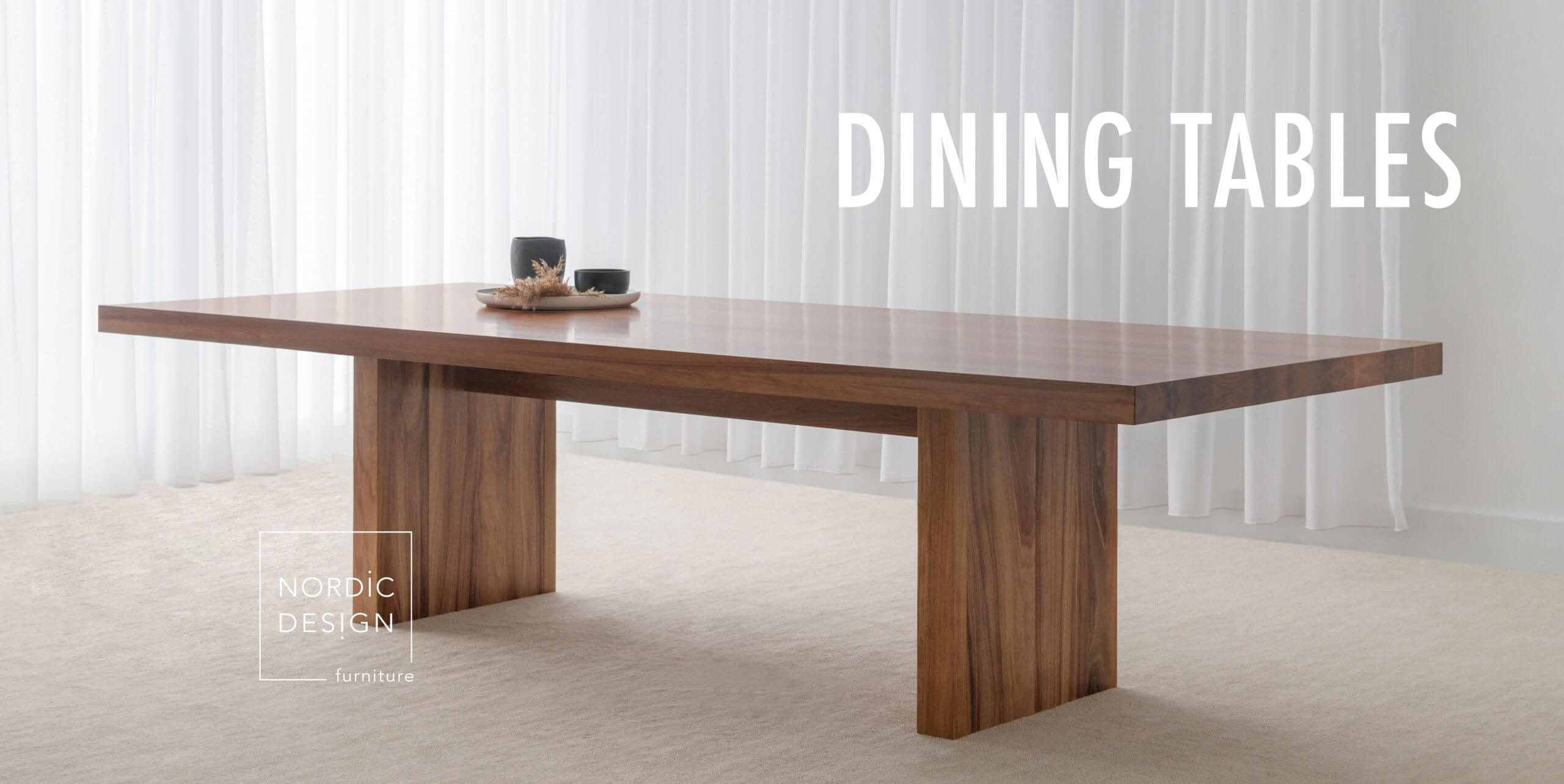 traditional timber dining table