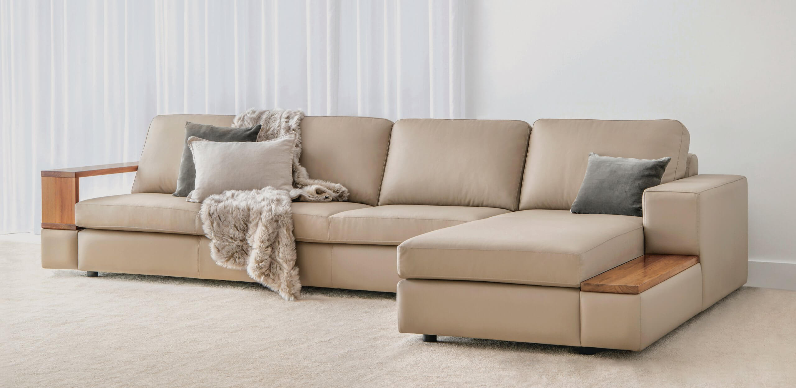 Leather Modular Sofa made in Adelaide