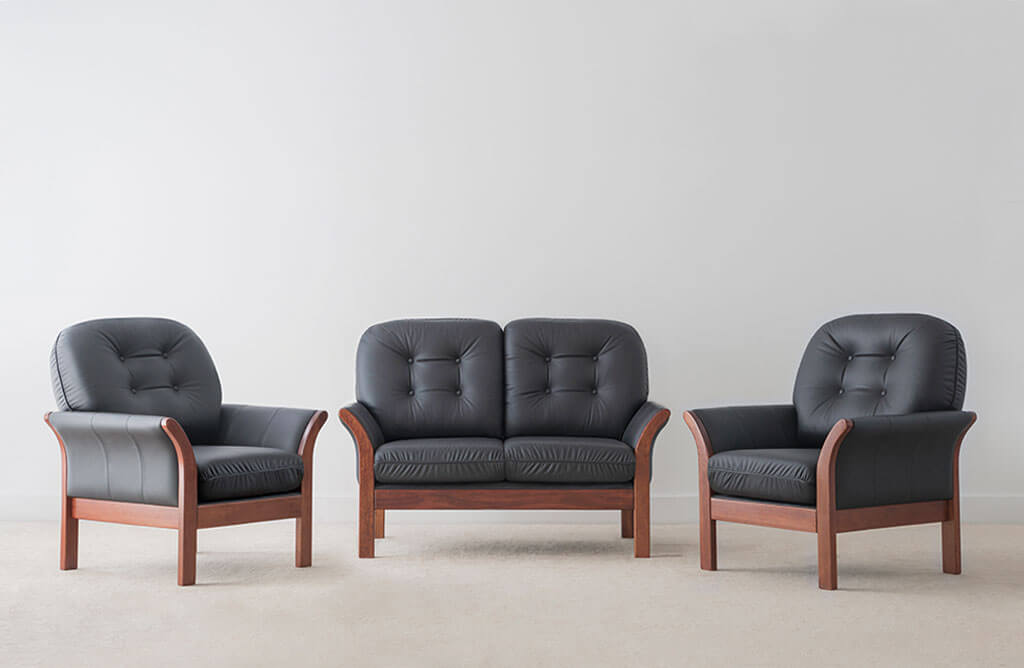 traditional leather lounge suite locally made in Adelaide