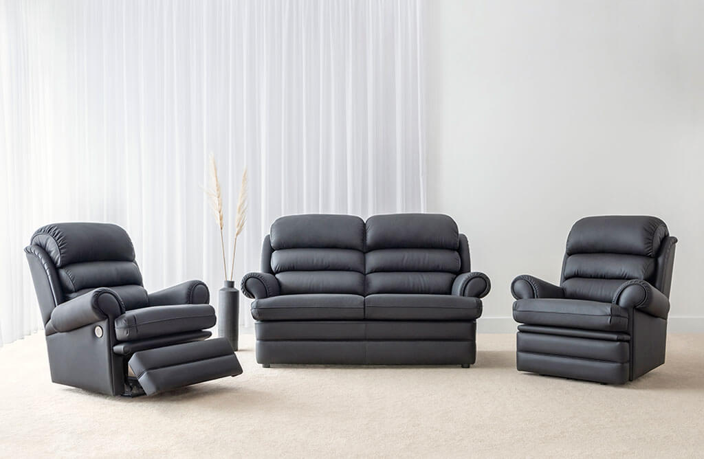 leather lounge suites made in Adelaide
