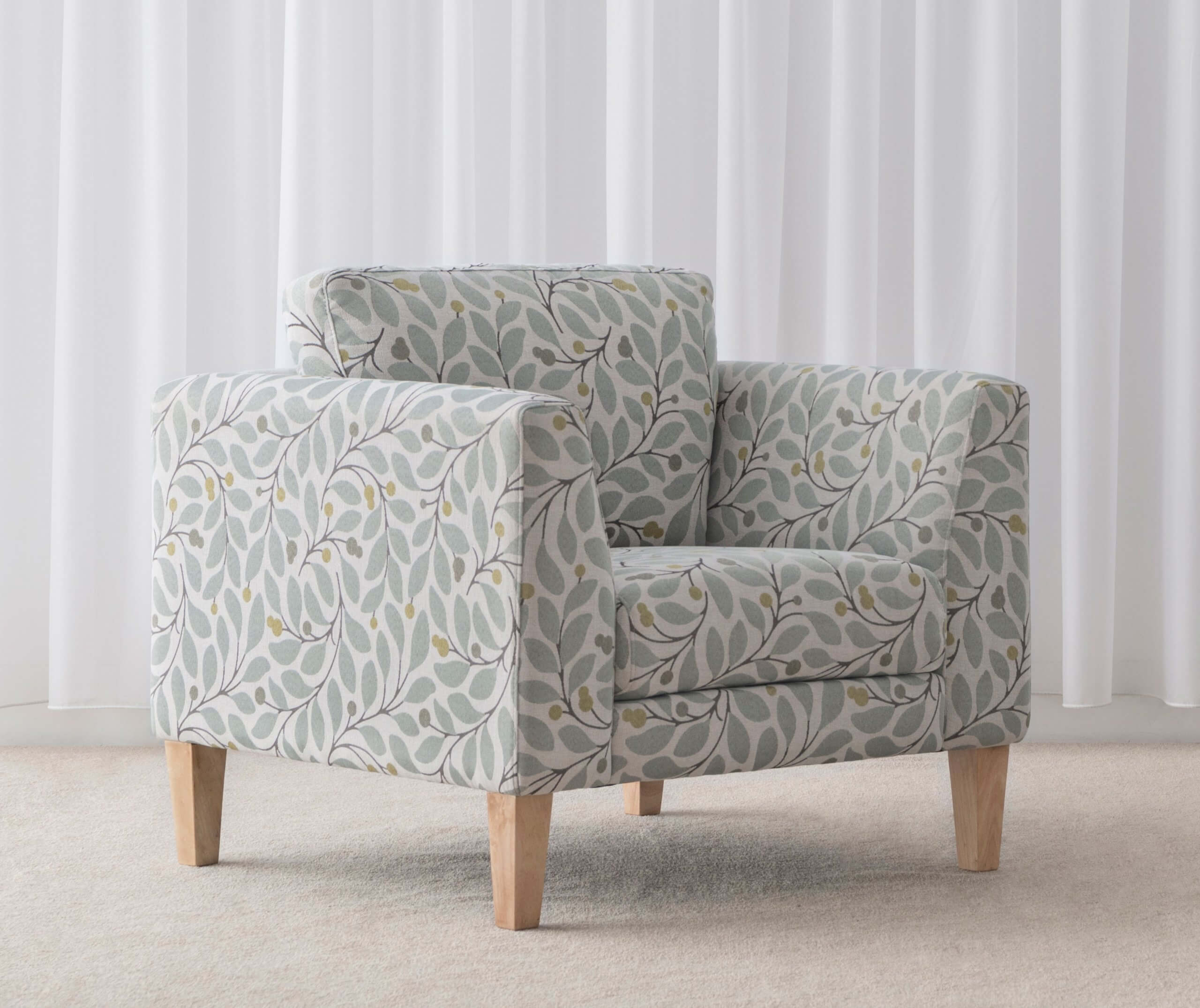 pattern fabric accent chair for Lounge Room