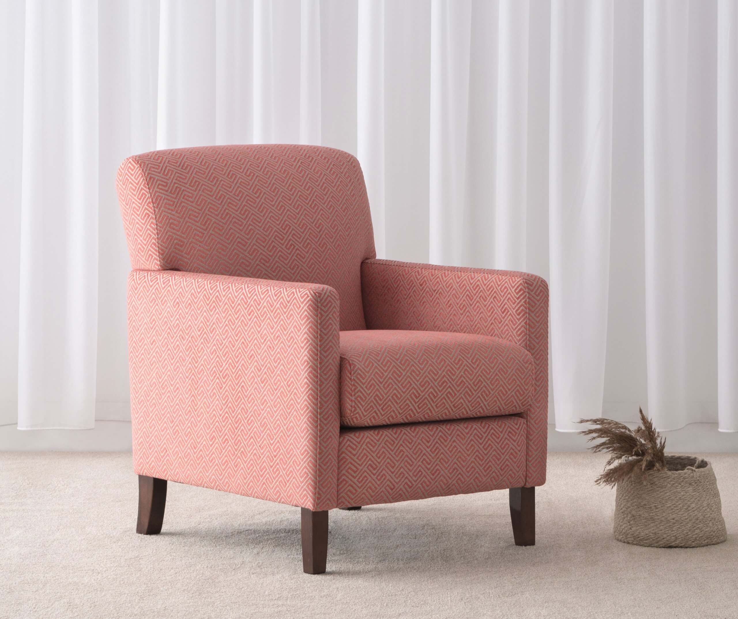 Accent colour fabric arm chair for Lounge Suite