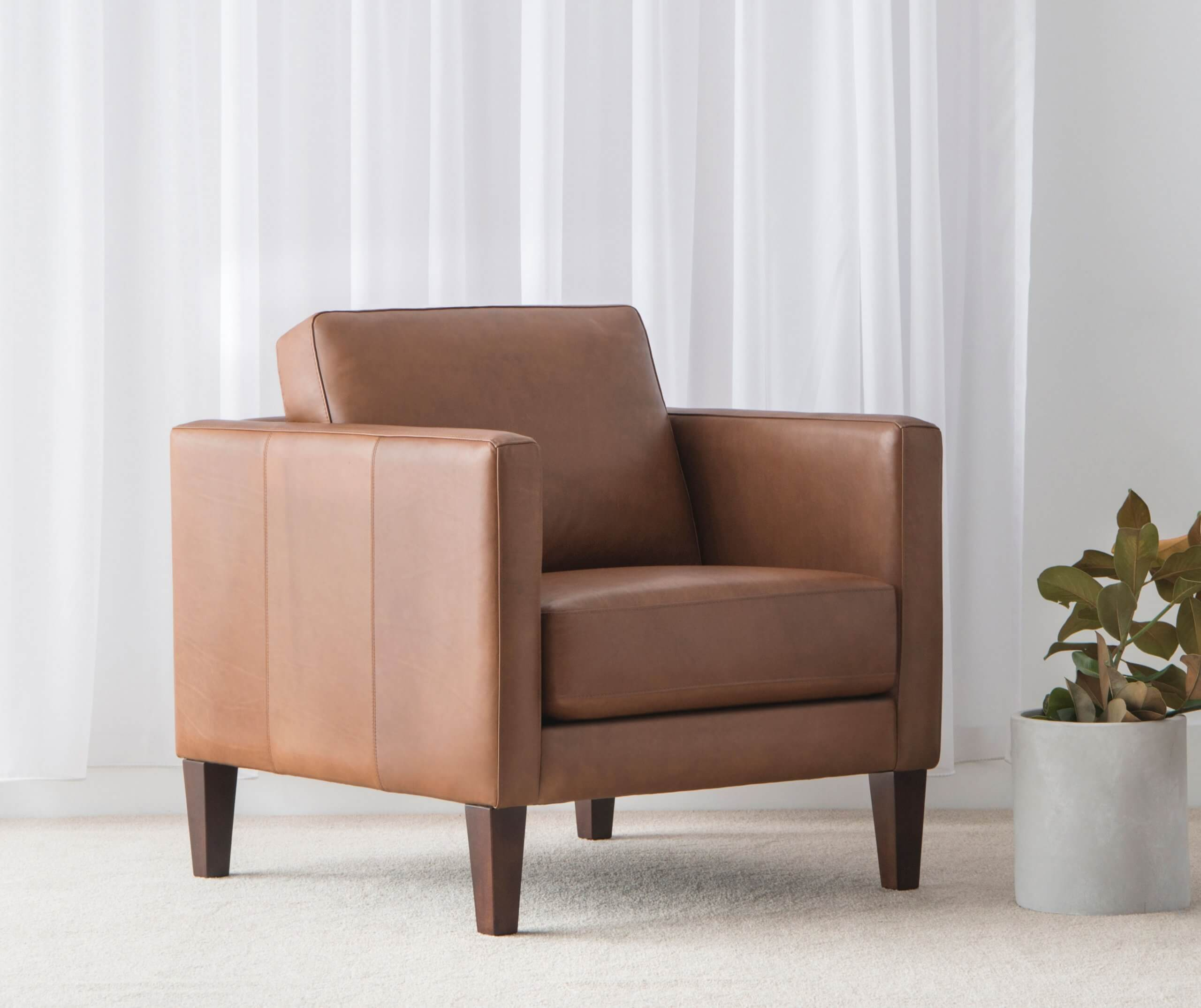 leather arm chair for Lounge Suite