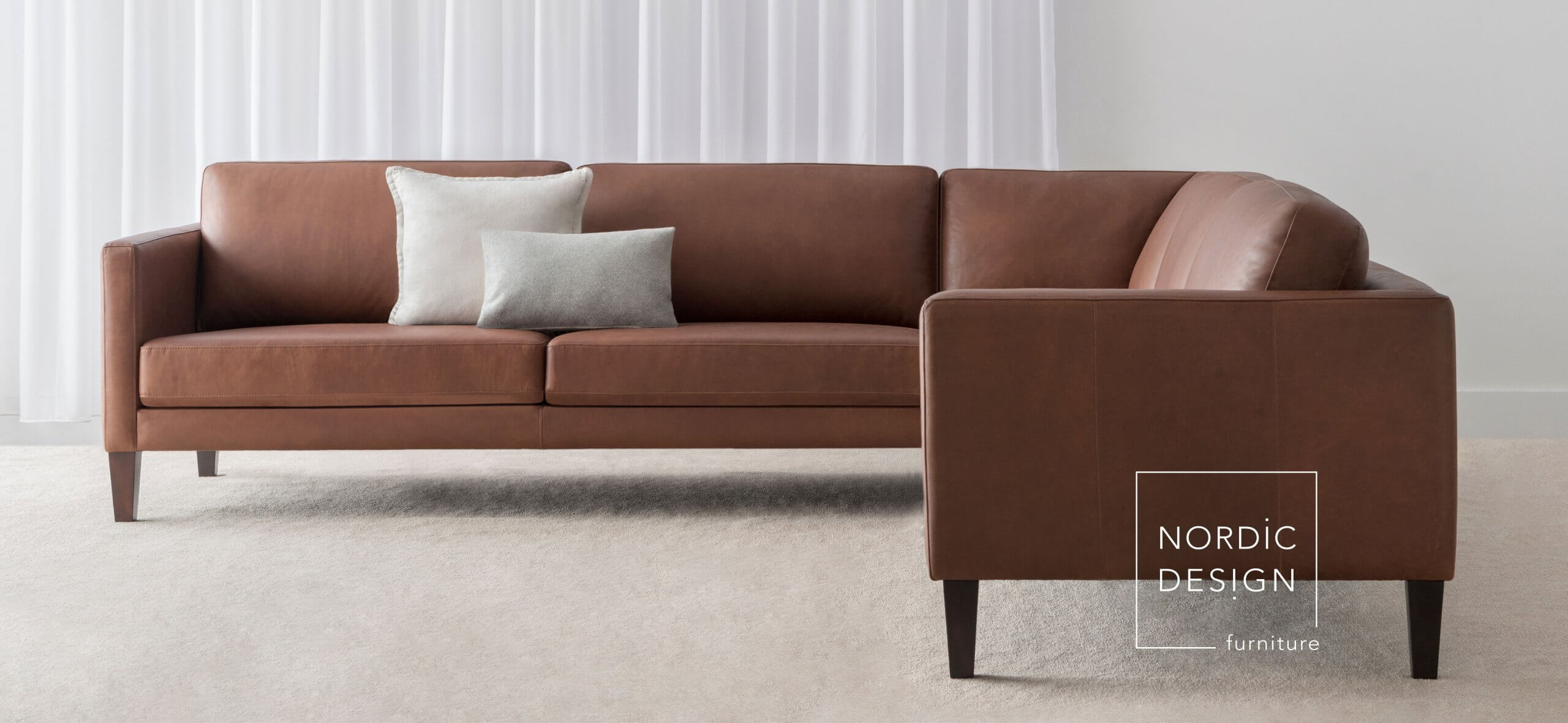 leather corner lounge made in Adelaide